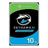 Seagate SkyHawk AI, 10 TB, Unidad Disco Duro Interna de Vigilancia, SATA a 6 GB/s, Caché de 256 MB, DVR, Sistema de cámaras de seguridad NVR y 3 años de servicios Rescue (ST10000VE0004)