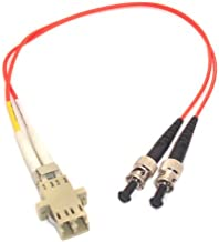 1ft Fiber Optic Adapter Cable LC (Female) to ST (Male) Multimode 50/125 Duplex