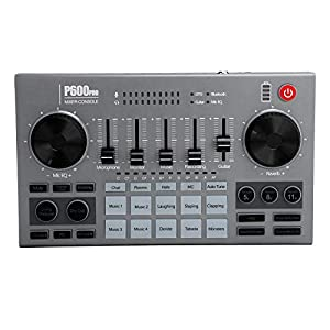 T opiky Professional Audio Mixer Sound Board Console, Digital Bluetooth Sound Mixing Desk System, Stereo DJ Studio for Live Video Recording(P600PRO)