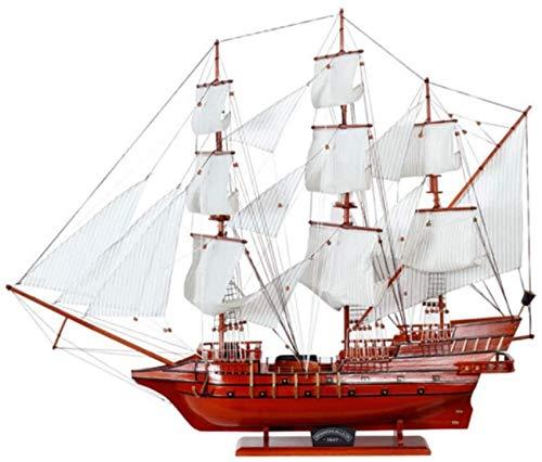 Decoraciones para Sala de Estar Modelo de velero Rojo Madera Barco Vintage Juguetes Artesanas Hechas a Mano Regalos creativos Sala de Estar Decoraciones para Dormitorio