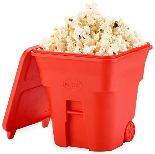 Affordable KECOP Microwave Popcorn Popper, Silicone Popcorn Maker, Collapsible Hot Air Microwavable ...
