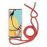 Miagon pour iPhone 8/7 Collier Coque,Transparent Housse en Silicone Ultra Mince Bumper Etui avec Réglable...