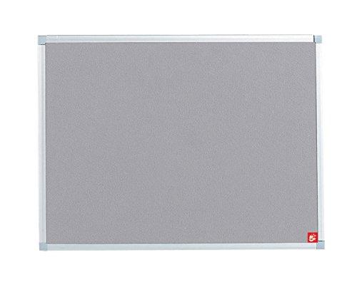 5 Star Premier anslagstavla med fäste och aluminiumram 900 x 600 mm grå