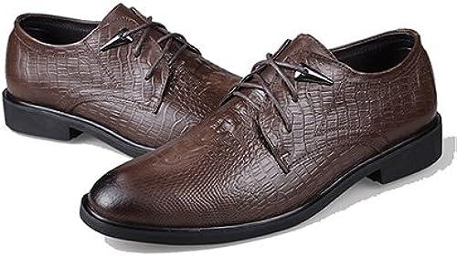 LHLWDGG.K zapatos De Vestir Para hombres zapatos De Vestir Para hombres Oxford zapatos Casuales Para hombres De Oxford, marrón Oscuro, 7