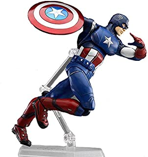 Marvel Superhero Captain America Assemble Action Figure Figma The Avengers Captain Steve Rogers PVC Toy Figure