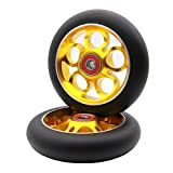 Z-FIRST 2Pcs Replacement 100 mm Pro Stunt Scooter Wheel with ABEC 9 Bearings Fit...