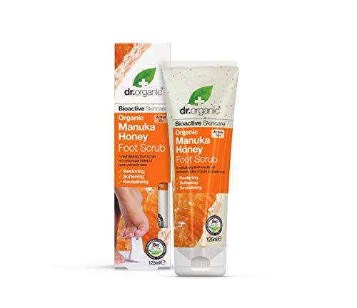 Dr. Organic Miel de Manuka Bio Exfoliant pour Pieds 125 ml