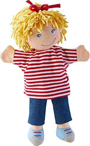 HABA 304348 - Handpuppe Conni, Meine Freundin Conni Figur aus weichen Materialien zum Spielen und Kuscheln, Spielzeug ab 18 Monaten