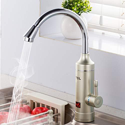 Elektrische warmwaterkraan keuken verwarming kraan-waterkraan 360 graden draaibaar koud- en warmwaterkraan met LCD-scherm voor keuken, badkamer, waskeuken B