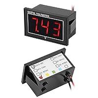 防水電圧計、広い測定範囲のDCデジタルLED電圧計、電動自転車用に簡単に接続子供用車(red, DC2.5-30V)
