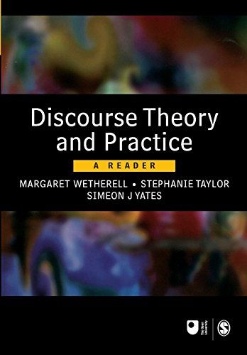Discourse Theory and Practice: A Reader (Published in association with The Open University) by Margaret Wetherell (Editor), Stephanie Taylor (Editor), Simeon J Yates (Editor) › Visit Amazon's Simeon J Yates Page search results for this author Simeon J Yates (Editor) (27-Mar-2001) Paperback