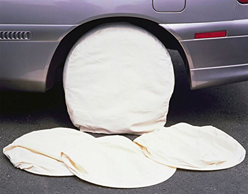 Paint Masking Wheel Covers 4pc Tool Garage Auto Refinisher 13' - 15' Tyre Covers Protects From...