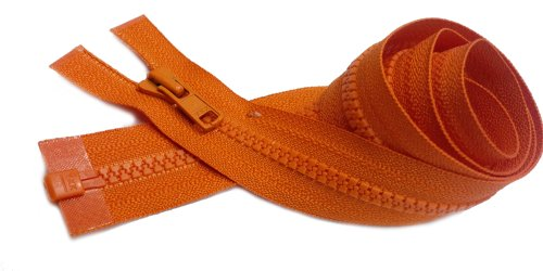 Wyprzedaż 24 Vislon lekkie swetry zamki YKK #3 formowane plastikowe oddzielające ~ kolory pomarańczowy #523 (1 zamek błyskawiczny/opakowanie) od YKK