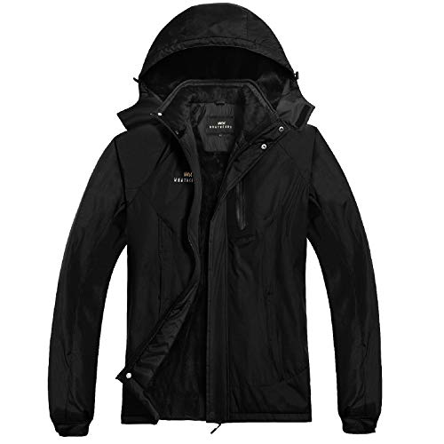 Men's Waterproof Ski Jacket Snow Coat Windproof Mountain Jackets with Hooded