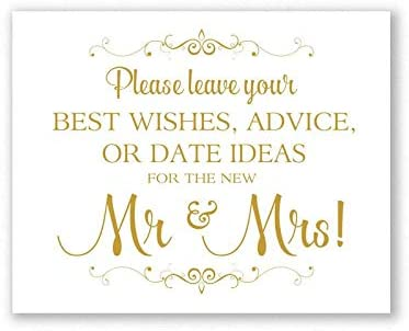 DKISEE Ranking TOP9 Best Wishes Wedding Reception Book Gold Matte Guest Albuquerque Mall Sign