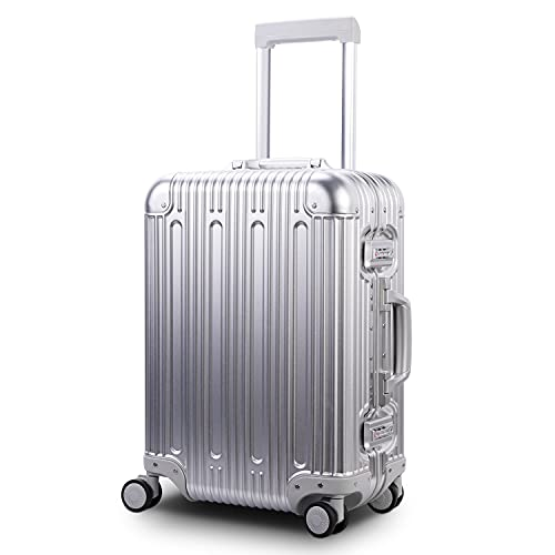 """Multi-size All Aluminum Hard Shell Luggage Case Carry On Spinner Suitcase By TravelKing 20""""-28"""""""