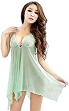 Fashion Green Women Lingerie Ladies Nightwear Sleepwear Slip Dress(h006 A)
