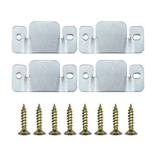 Dreamtop 4pcs Soporte de conector de muebles de sofá seccional de metal universal con tornillos (96 x 40 mm)