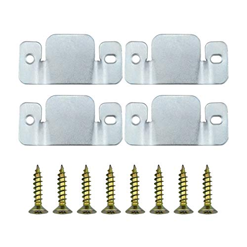 Dreamtop 4pcs Universal Metal Sectional Sofa Interlocking Furniture Connector Bracket with Screws (96 x 40mm)