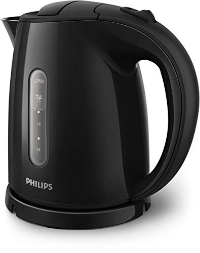Philips Daily Collection HD4647/20 Bouilloire 1,5 L Noir 2400 W Daily Collection HD4647/20, 1,5 L, Noir, Acrylonitrile-Butadiène-Styrène (ABS), Polypropylene, Synthétique ABS, 0,75 m,