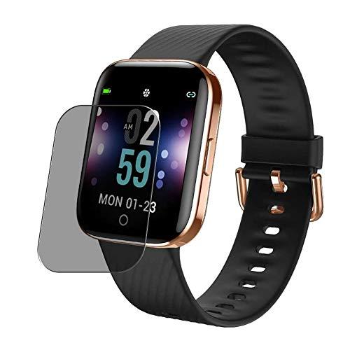 Vaxson Protector de Pantalla de Privacidad, compatible con ZKCREATION X2 1.3' Smartwatch smart watch [no vidrio templado] TPU Película Protectora Anti Espía