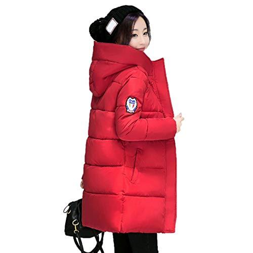 YXDS Abrigo de Mujer a la Moda, Chaqueta de plumón con Capucha, Acolchado de algodón, Abrigo Grueso y cálido, Abrigo de Invierno Largo Medio, Abrigo