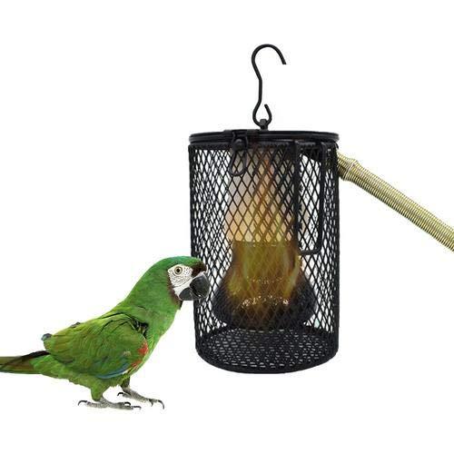 miss-an Reptilien Wärmelampe, Hängende Käfigheizung Für Papageien, Vögel, Eidechsen, Schildkröten Usw, 7,1 X 14 cm