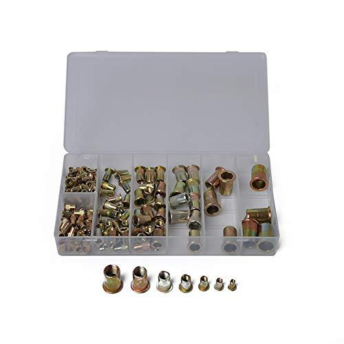 RONSHIN M3/4/5/6/8/10/12 Boxed pak 100 Stks/165 stks/210 Stks Gemengde Zink Plated Koolstofstaal klinknagel moer Kit Gereedschap Set 165PCS