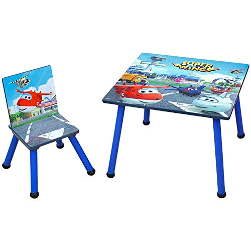 Style Home Super Wings 3-in-1 kinderbureau + kruk + tekentafel + boekenkast + speelgoedkist, houten kinderzitgroep kinderstoel plank organisator C3DZD001