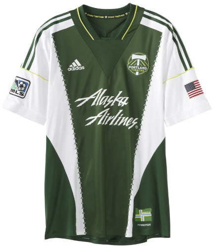 adidas MLS Portland Timbers Kurzärmliges Trikot, Herren, Portland Timbers, Medium