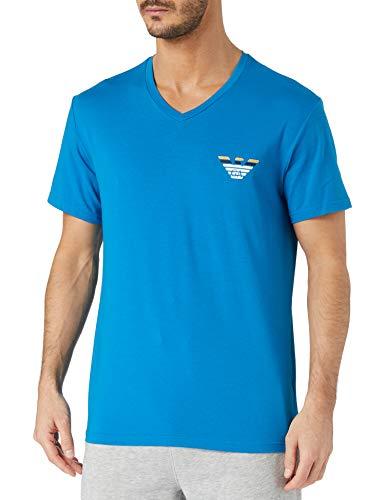 Emporio Armani Underwear T-Shirt Pop Logo Camiseta, Primrose, L para Hombre