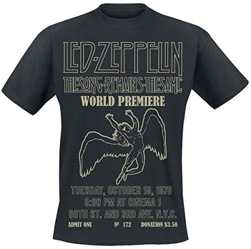 Led Zeppelin TSRTS World Premiere T-Shirt Zwart L