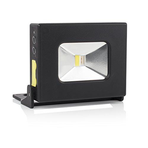 Smartwares FCL-76001 oplaadbare led-zaklamp met USB: Mini-bouwlamp en powerbank in één, 10 watt, 350 lumen, W, zwart