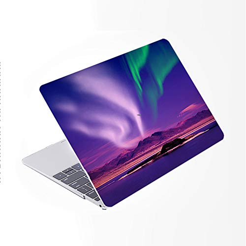 SDH Newest for MacBook Pro 13 inch Case 2020 Release Touch Bar & ID Model: A2338/A2289/A2251, Plastic Pattern Hard Shell & Laptop Sleeve Bag & Keyboard Cover Skin 4 in 1 Bundle, Sun Moon Star 4