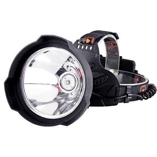 Linterna frontal LED de 35000 lúmenes, recargable por USB, luz LED superbrillante para casco duro, potente