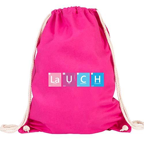JUNIWORDS Turnbeutel - Wähle eine Farbe - Lauch - Farbe: Pink