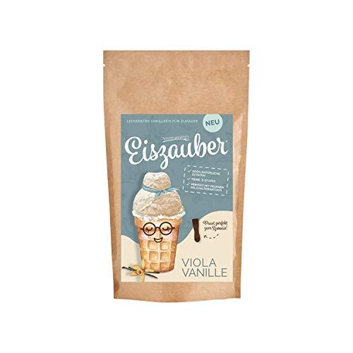 Spoontainable's Eiszauber Viola Vanille | Eismix für (veganes) Milcheis | Eispulver aus 100% natürliches Zutaten | Eis zum Selbermachen | Eis DIY | Eisbasis für Eismaschine | Speiseeis