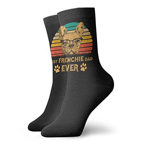 Best Frenchie Dad Ever Funny Ankle Socks for Men Women Athletic Running No Show Socks
