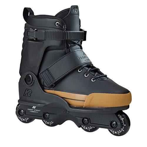 K2 Unisex Frontstreet Inline Skates - Schwarz-Gold - EU: 39.5 (US: 7 - UK: 6) - 30B0025.1.1.070