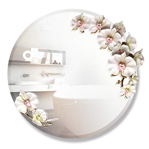 Miroirs Miroir Miroir Rond 60cm Miroir Suspendu Miroir de Salle de Bain créatif Miroir de Salle de Bain Miroir de Salle de Bain (Color : Silver, Size : 60 * 60cm)