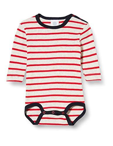 Sanetta Langarmbody karmin Conjunto de ropa interior para bebés y niños pequeños, rojo, 24 meses