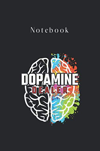 Notebook: Dopamine Dealer Fitness Coach Personal Trainer Black Cover Designed for Kid Men and Women Valentine and Women Day Gift Notebook Journal Gifts with College Lined 6in - 9in - 125 Pages Write