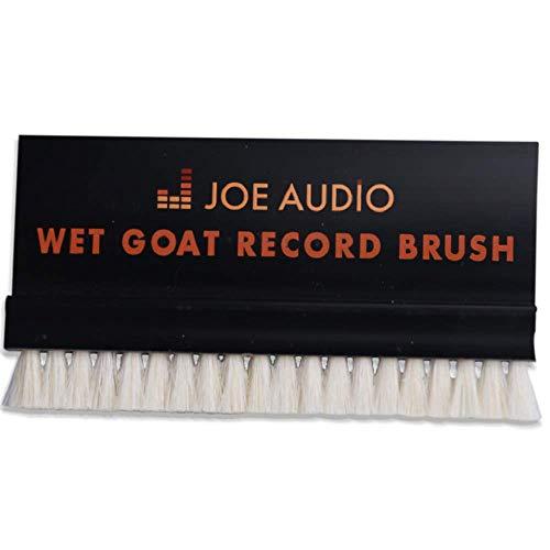 Premium Nass-Ziegenhaar Ultimate LP Schallplatten-Reiniger, Staubwedel, antistatisches Bürsten-Gerät verkratzt die Schallplatte Nicht, inklusive Aufbewahrungsbox, Schwarz
