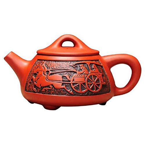 Tetera Arena Morada Tetera Hierro Fundido Tetera Antigua De Arcilla Púrpura Kung Fu Teaware Hecho A Mano 350Ml