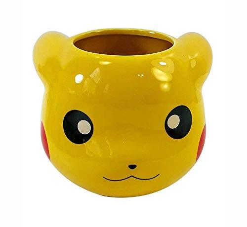 16 OZ Pokemon OFFICIAL Pikachu Face Molded Yellow Ceramic Coffee Mug, Novelty GIFT for Pokemon fans