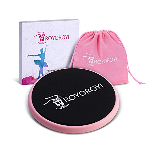 Portable Turn Disc Board Dances - Turning Pirouette Equipment for Ballet Dancers,Figure Skating,Gymnastics for Spinning Balance Training (Pink)