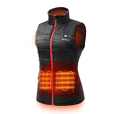 ORORO Women's Lightweight Heated Vest with Battery Pack (XX-Large) Black/Red by GUANGDONG SHANGRILA NETWORKING TECHNOLOGY CO., LTD