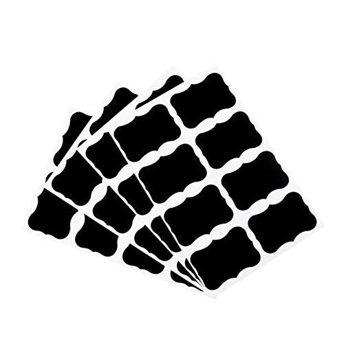 36pc/Set 5x3.5cm Zwart Stickers Glazen Fles Label Sticker Klein Blackboard Label Decoratieve boodschap Blackboard Papier, Zwart, Russische Federatie