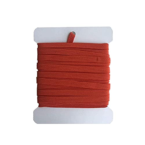 NIKB Orange Elastic 1/4 Inch Elastic Bands for Sewing 1/4 Inch Elastic Bands for Mask (1/4inch 11Yards Flat, Orange)