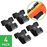 Stinger Magnetic Gun Holder w/Safety Trigger Guard Protection, Wall Mounted Gun Rack, Firearm Concealed Holster for Handgun Rifle Shotgun Pistol Revolver, Car Storage, Desk Mount (4 Pack)